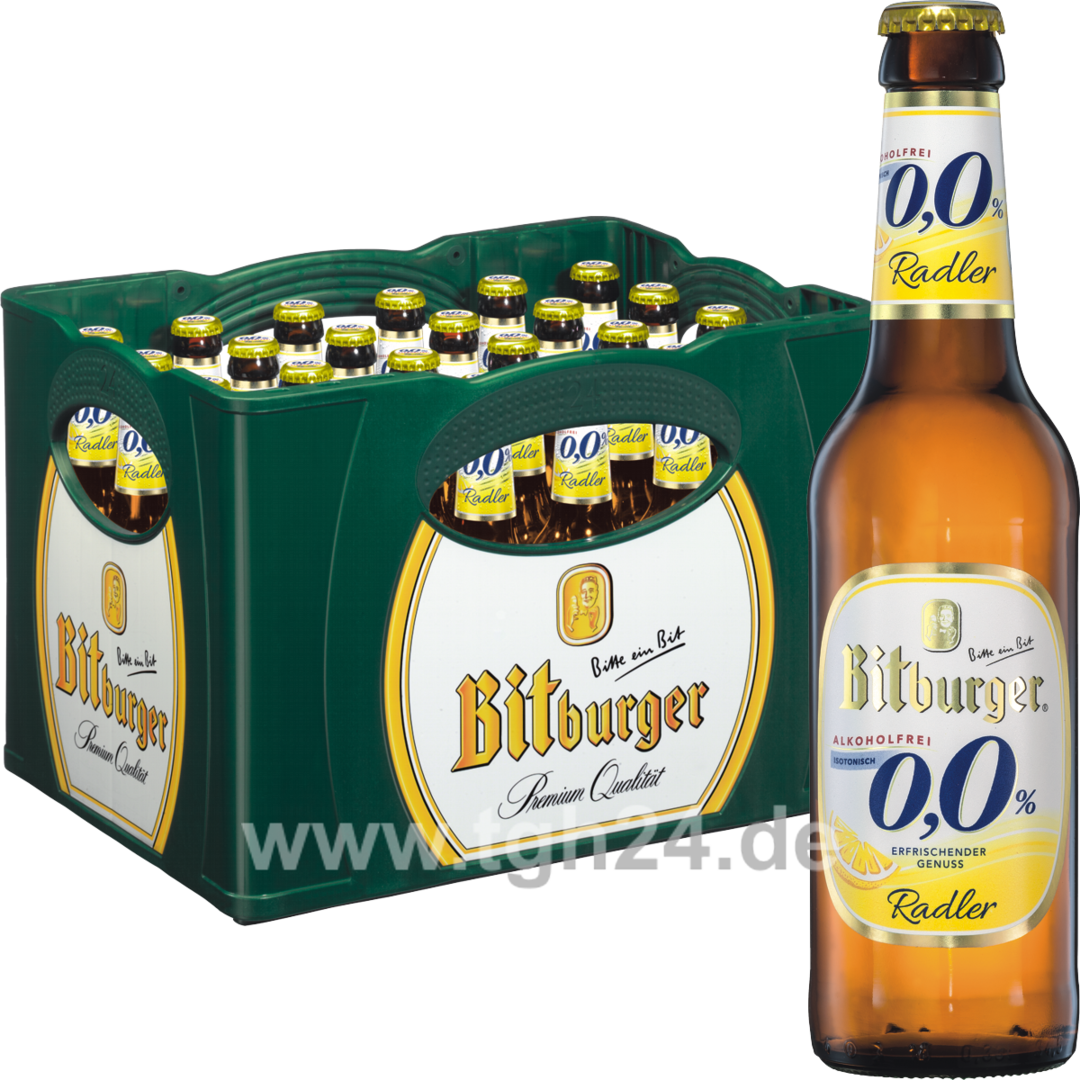 bitburger 0 0 radler alkoholfrei 24x0 33 l tgh24. Black Bedroom Furniture Sets. Home Design Ideas